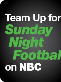Team Up for Sunday Night Football on NBC