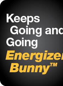 Energizer BunnyTM Keeps Going and Going