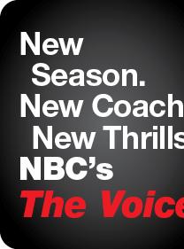 New Season. New Coach. New Thrills. NBC's The Voice