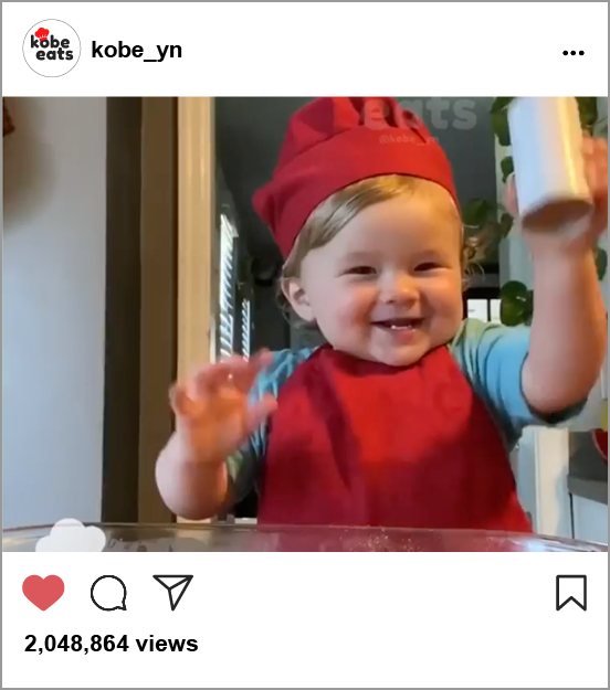 Baby Chef is Online Sensation