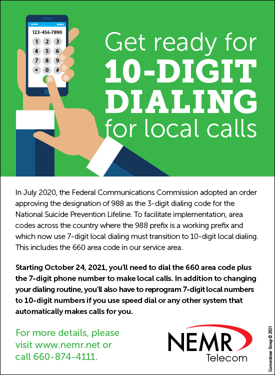 10-Digit Dialing - Download Graphics to View