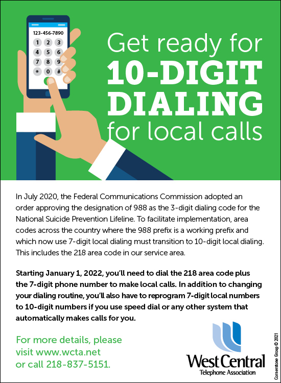 10 Digit Dialing - Download Graphics to View