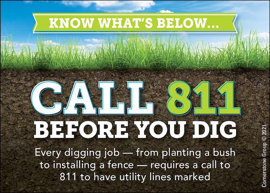 Call 811 - Download Graphics to View
